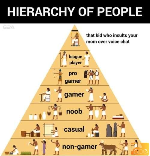 Hierarchy of people