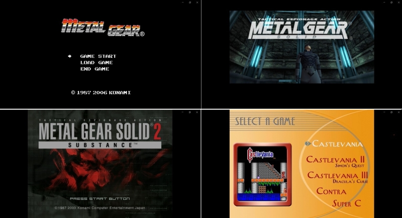 Metal Gear, Metal Gear Solid, Metal Gear Solid 2, Castlevania Collection