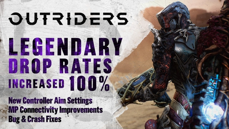 Outriders drop 100 procent legendy