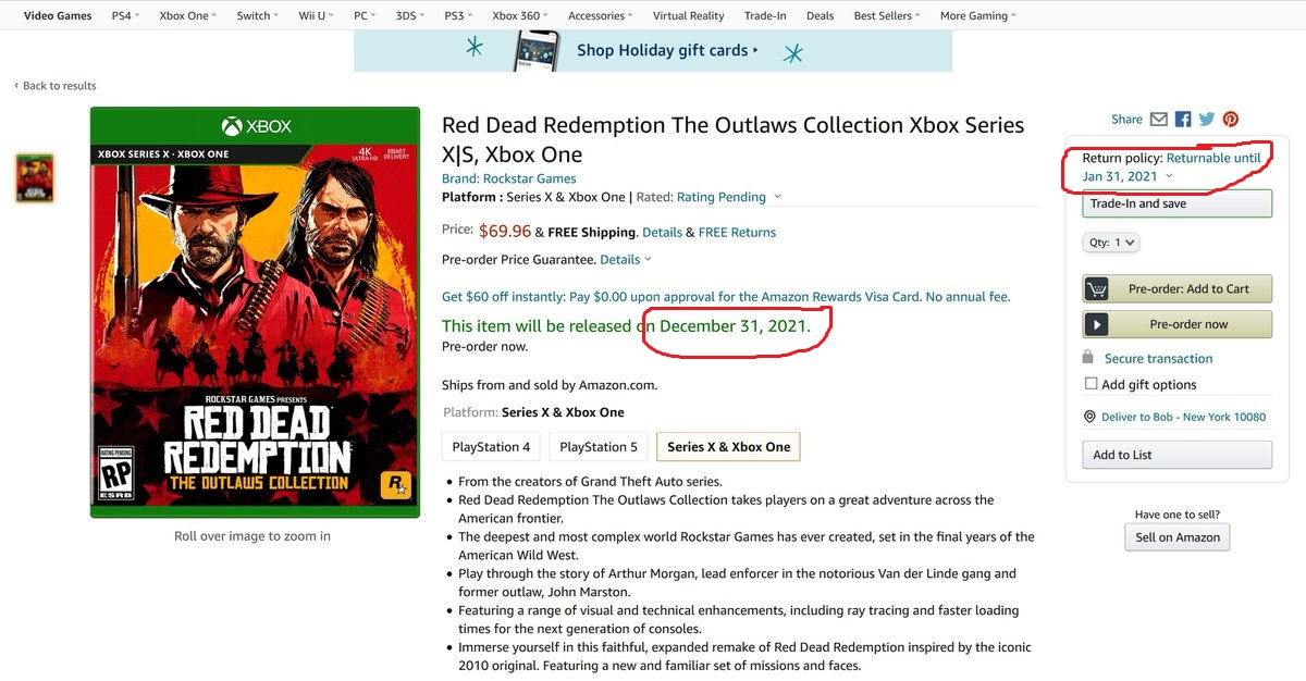 Red Dead Redemption: The Outlaws Collection fake