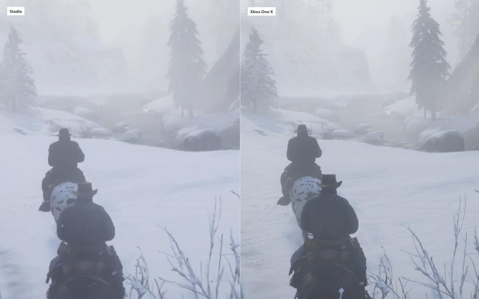 Google Stadia vs. Xbox One X Red Dead Redemption 2 - 2