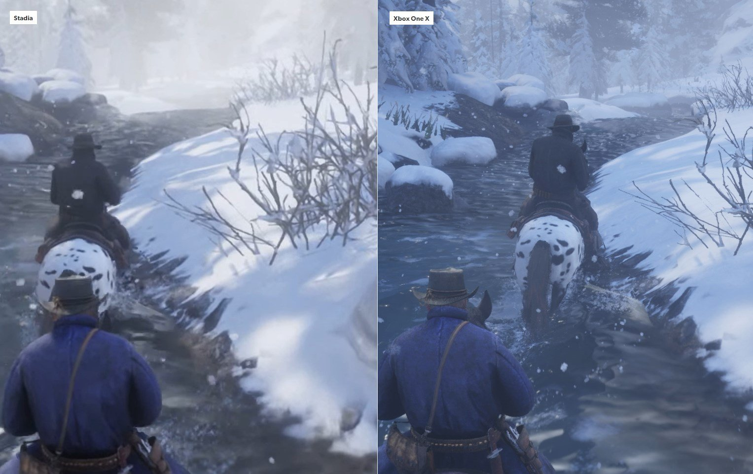 Google Stadia vs. Xbox One X Red Dead Redemption 2 - 3
