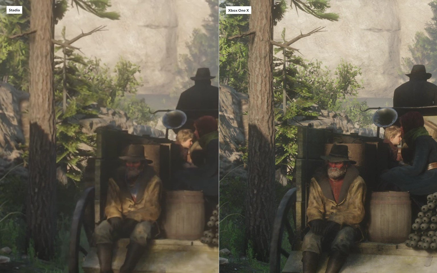 Google Stadia vs. Xbox One X Red Dead Redemption 2 - 4