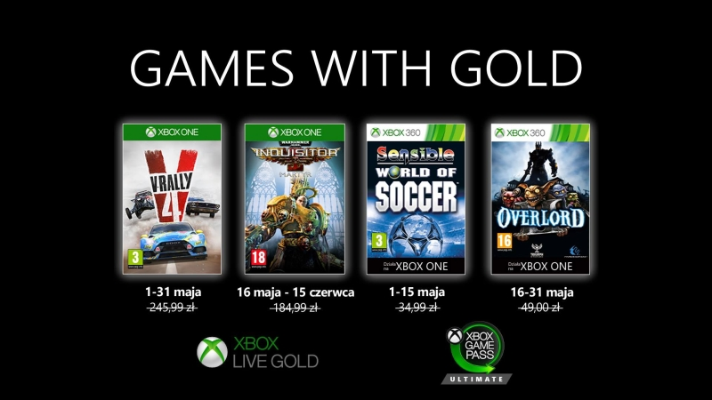 Games with Gold maj 2020