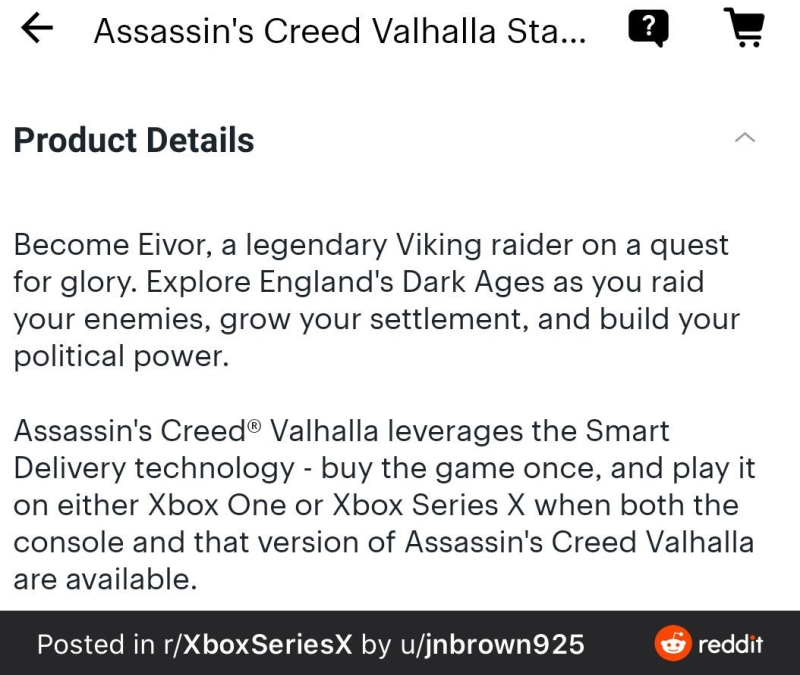 Assassins Creed Valhalla smart delivery