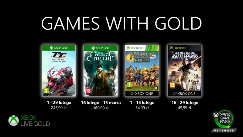 Games with Gold Luty 2020