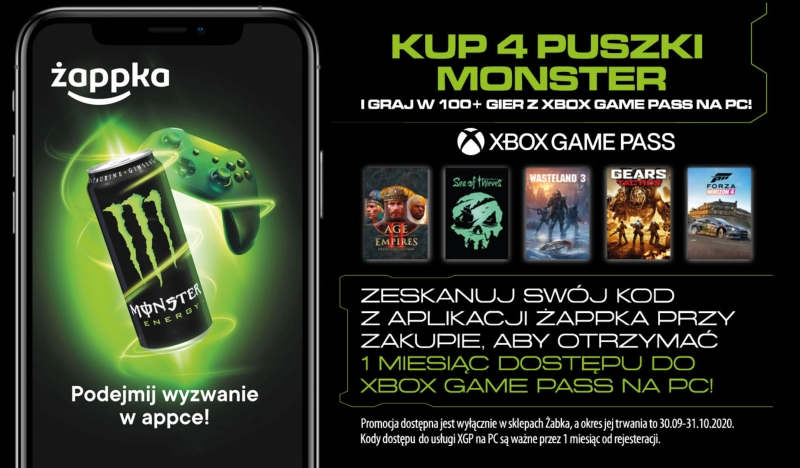 Xbox Game Pass x Monster Energy