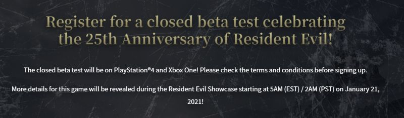 Resident Evil Village Online Beta
