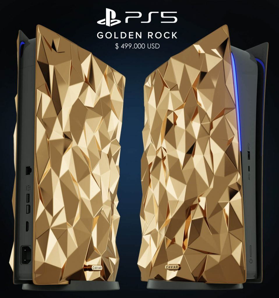 PS5 Limited Edition Golden Rock - 1