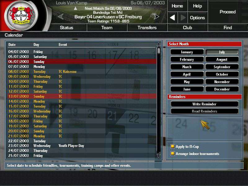 Total Club Manager 2004 #6