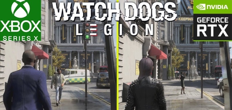 Watch Dogs Legion Xbox Series X vs PC - ray tracing