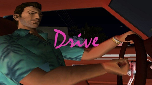 "Intro do filmu ""Drive"" odtworzone w GTA: Vice City"