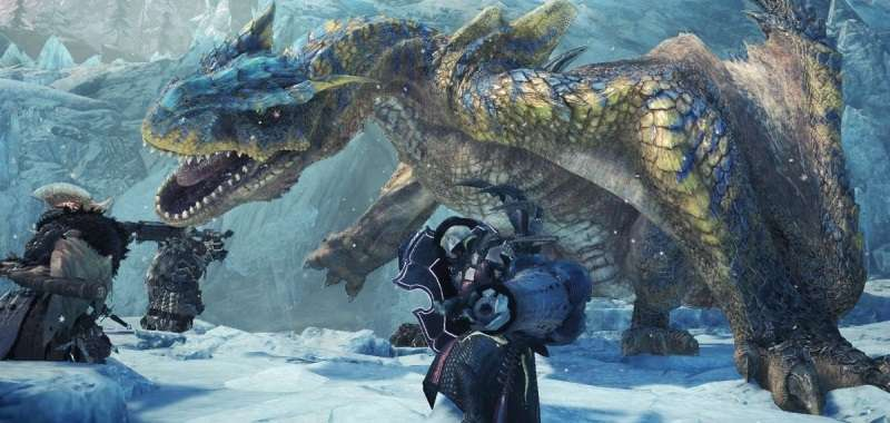 Monster Hunter World Iceborn walka z dużą bestią