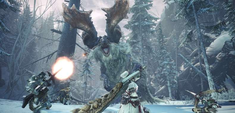 Walka w Monster Hunter World Iceborne