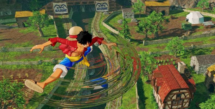 One Piece: World Seeker na nagraniu z rozgrywki
