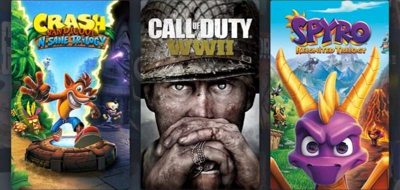 Crash Bandicoot N. Sane Trilogy, Spyro Reignited Trilogy i Call of Duty WWII za 47 zł!