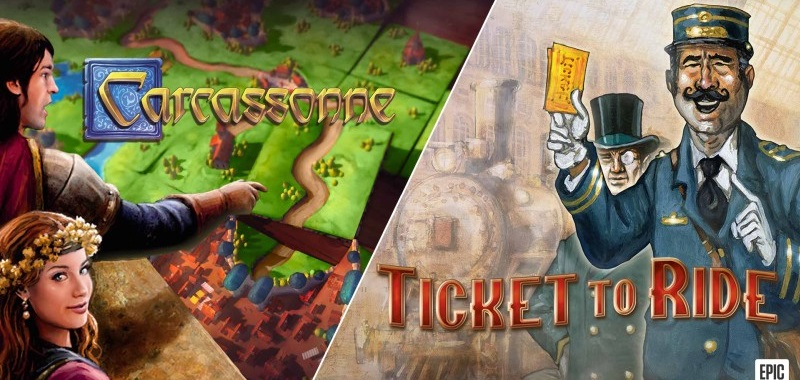 Carcassonne i Ticket to Ride za darmo